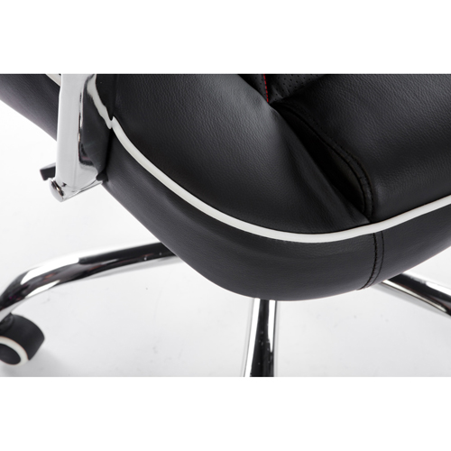 Executive Headrest Leather Modern Chair Image 7
