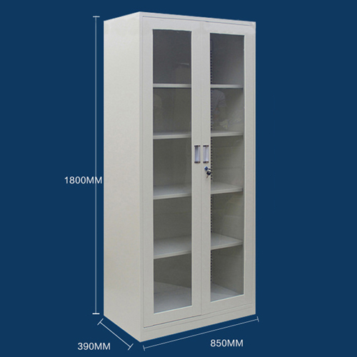 Chuz Glass Door Metal File Cabinet