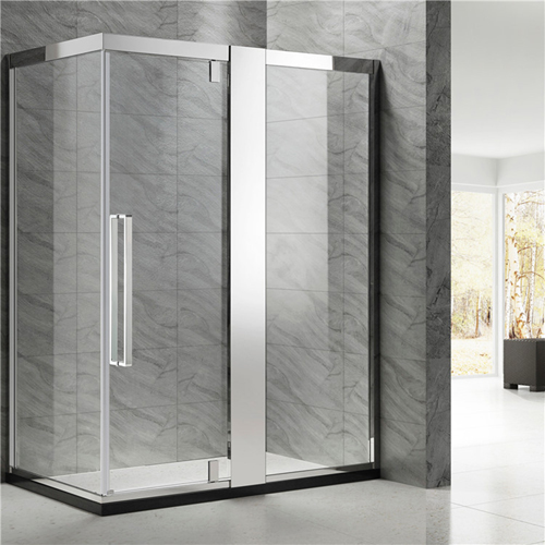 Double Sliding Shower Door With Side Panel