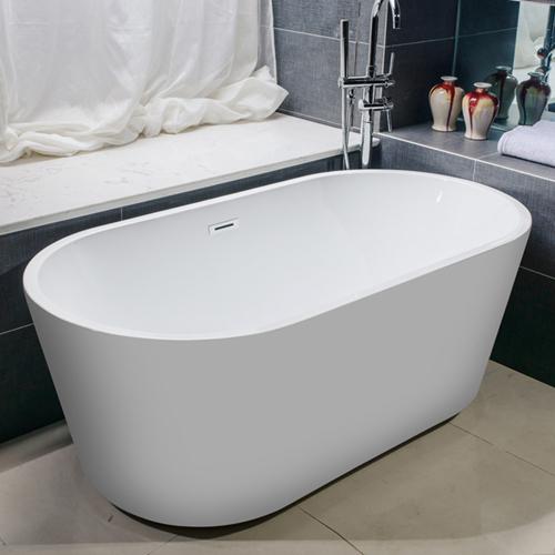 Side Acrylic Stand-Alone Bathtub