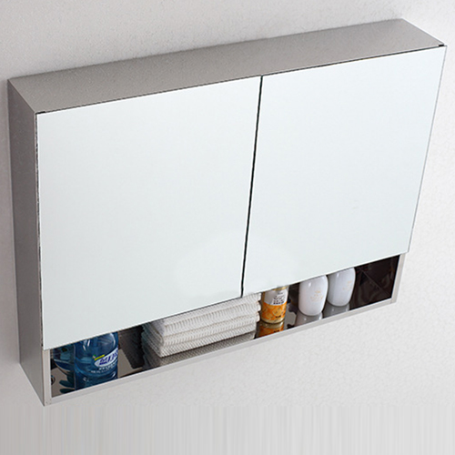 Stainless Steel Cabinet Storage Mirror Door