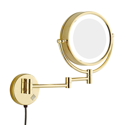 Chrome Finish LED Lighted Make-Up Mirror