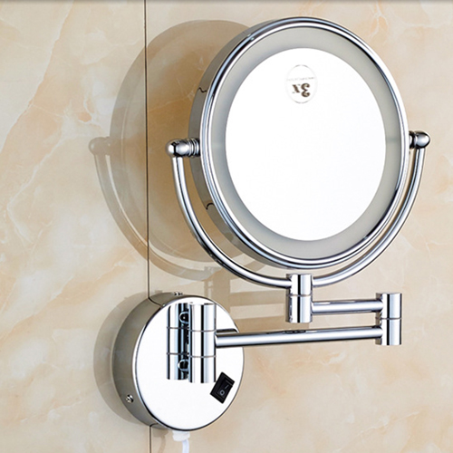Wall Mounted Double Sided Magnifying Cosmetic Mirror
