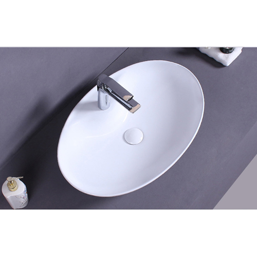 Oval Ceramic Countertops Washbasin
