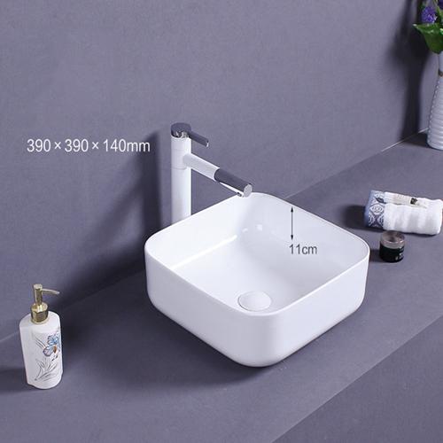 Square Countertop Ceramic Basin