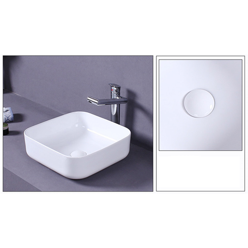 Square Countertop Ceramic Basin