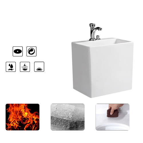 Floor-Mounted Ceramic Bathroom Mop Pool