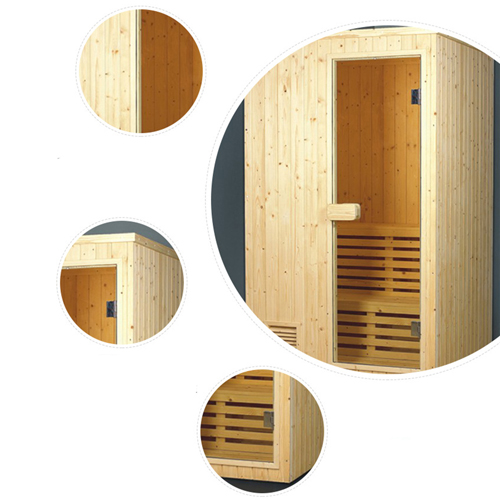 Close Dry Sauna Room Cabin