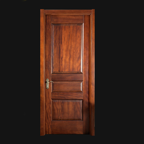 Cherry Wood 3-Panel Door