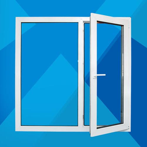 Clear Double Door Glass Window
