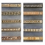 Crystal Border Gilded Decorative Line Tile