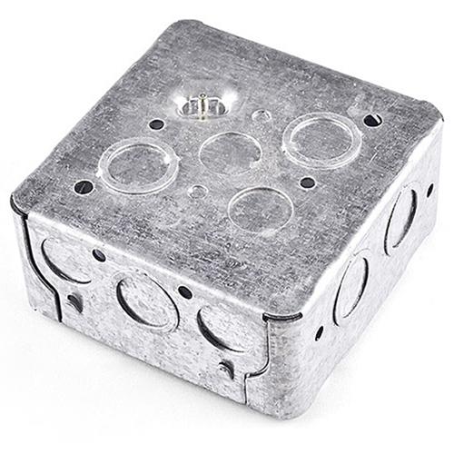 Galvanized Square Outlet Conduit Box