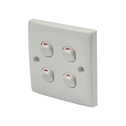 Single-Control Four Button Switch Panel