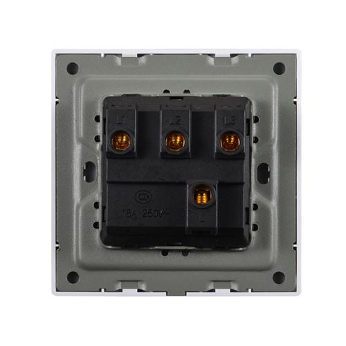 Three Open Single-Control Wall Switch Socket