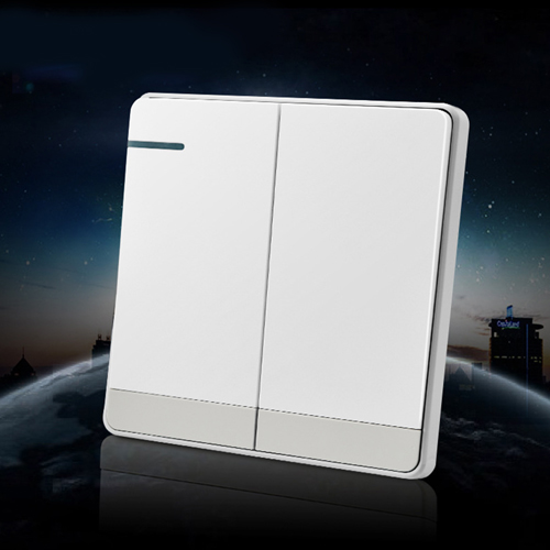 Frameless Two Open Double Control Wall Switch
