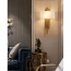 Modern Metal Pipe Copper Wall Sconce