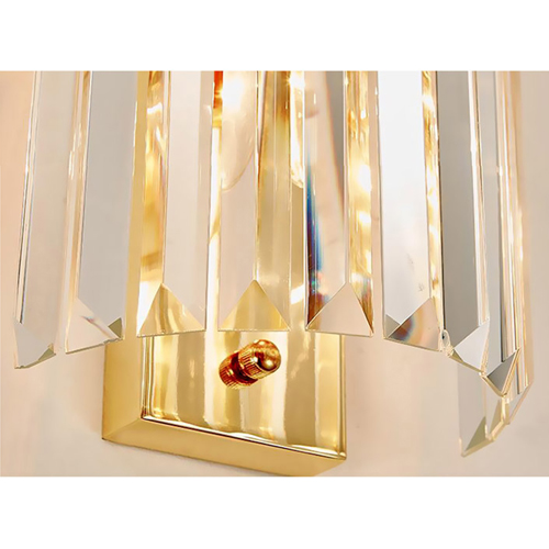 Crystal Stainless Steel Wall Sconce