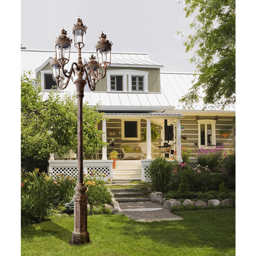 Aluminum 5 Head Garden Street Light