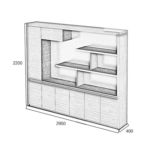 Multi-Function Bookcase Cabinet Image 11
