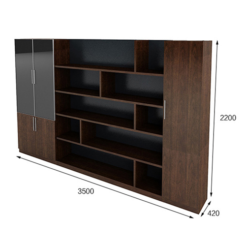 Corporate Wooden Large File Bookcase Image 9