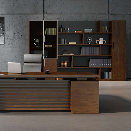 Corporate Wooden Large File Bookcase Image 1