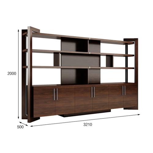 Stylish Walnut Filing Cabinet Bookcase Image 9