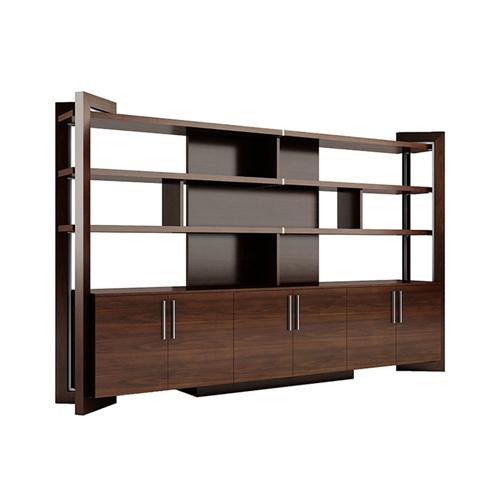 Stylish Walnut Filing Cabinet Bookcase