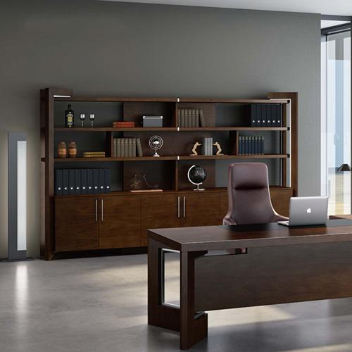 Stylish Walnut Filing Cabinet Bookcase Image 1