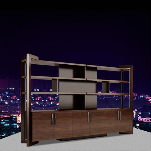Stylish Walnut Filing Cabinet Bookcase Image 2