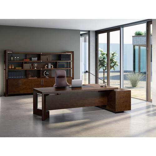 Stylish Walnut Filing Cabinet Bookcase Image 3