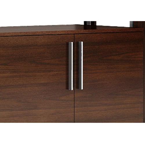 Stylish Walnut Filing Cabinet Bookcase Image 8