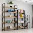 Steel Wood Shelf Rack Cabinet Image 9