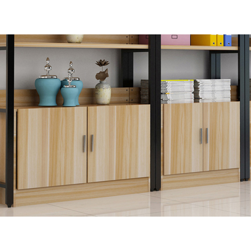 Steel Wood Shelf Rack Cabinet Image 11