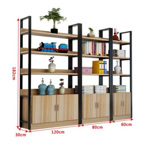 Steel Wood Shelf Rack Cabinet Image 12