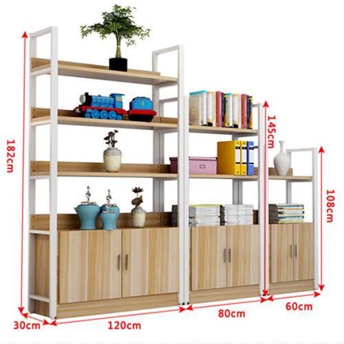 Steel Wood Shelf Rack Cabinet Image 13