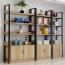 Steel Wood Shelf Rack Cabinet