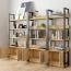 Steel Wood Shelf Rack Cabinet Image 1