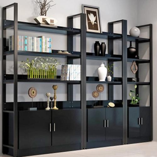 Steel Wood Shelf Rack Cabinet Image 2