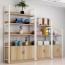 Steel Wood Shelf Rack Cabinet Image 3