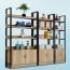 Steel Wood Shelf Rack Cabinet Image 4
