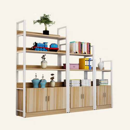 Steel Wood Shelf Rack Cabinet Image 5