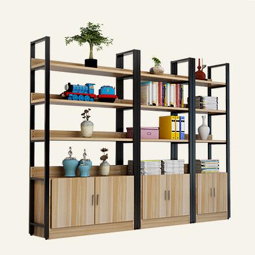 Steel Wood Shelf Rack Cabinet Image 6