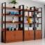 Steel Wood Shelf Rack Cabinet Image 7