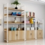 Steel Wood Shelf Rack Cabinet Image 8
