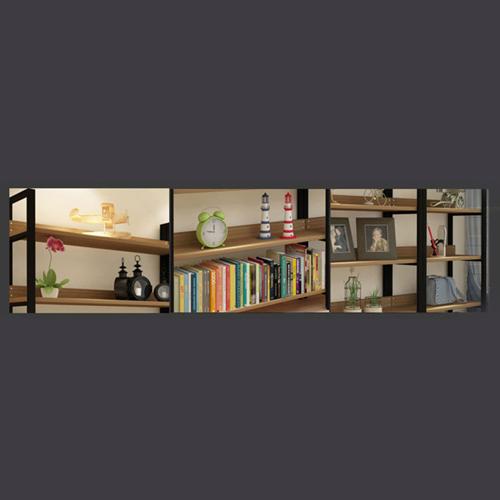 Steel Wood Shelf Display Bookshelf Image 9