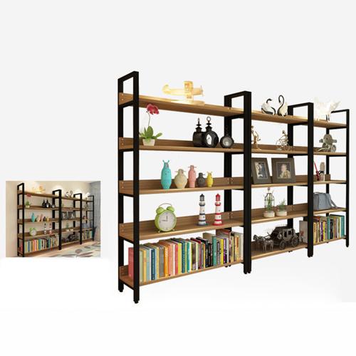 Steel Wood Shelf Display Bookshelf Image 10