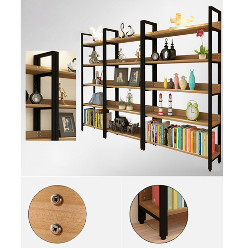 Steel Wood Shelf Display Bookshelf Image 11