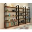 Steel Wood Shelf Display Bookshelf Image 12
