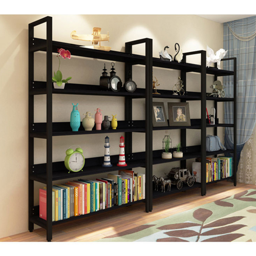 Steel Wood Shelf Display Bookshelf Image 14