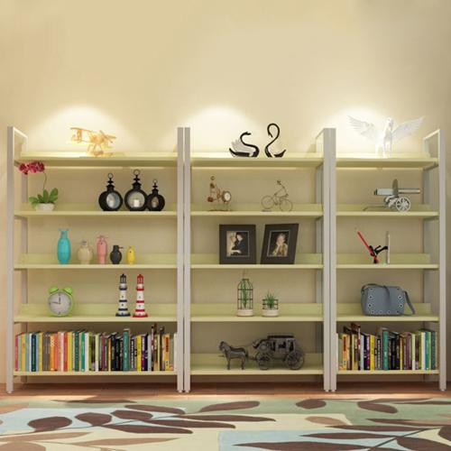 Steel Wood Shelf Display Bookshelf Image 15